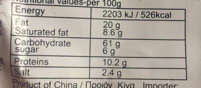Nouilles Spicy Porc - Nutrition facts - fr