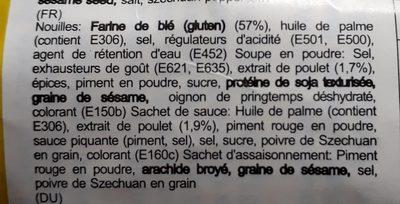 Nouilles Spicy Poulet - Ingredients - fr