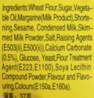Ginbis Animal Shape Biscuit - Butter Flavour - Ingredienti - en