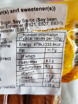 DHC Spicy Beancurd (with sugar(s) and sweetener(s)) - Nutrition facts - en