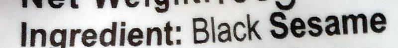 Black sesame - Ingrédients - en