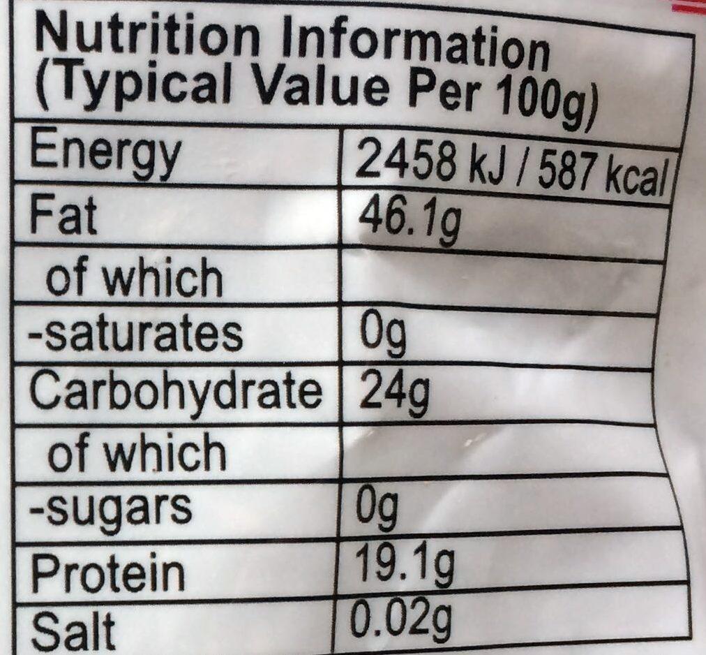 Black sesame - Informations nutritionnelles - en