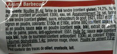 Nouilles instantanée soupe XL barbecue - Ingredients - fr