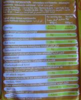 Chicken Flavor Noodles - Informations nutritionnelles