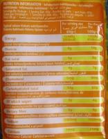 Curry Flavor Noodles - Informations nutritionnelles