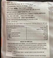 E Chang Noodles - Nutrition facts