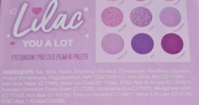 EVER BEUTY Lilac YOU A LOT - 成分 - en