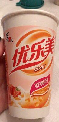 Boisson au thé avec gelée de coco arôme fraise - Produit - fr