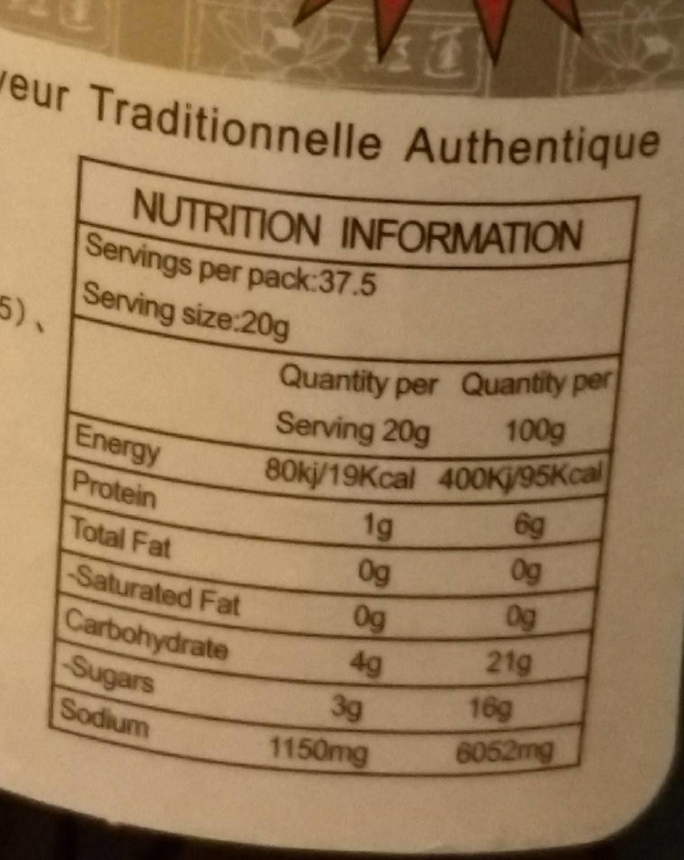 Sauce de soja supérieure - Nutrition facts