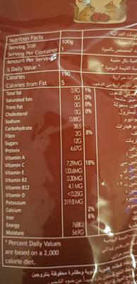 Organic Peeled Roasted Chestnuts - Voedigswaarden