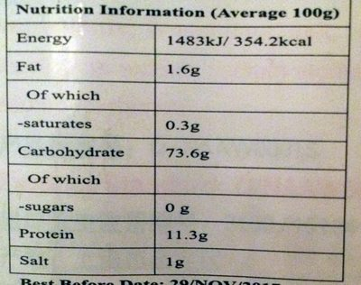 Mushroom Noodles - Nutrition facts - en