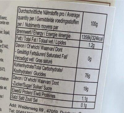 Fruit Mochi - Nutrition facts - en