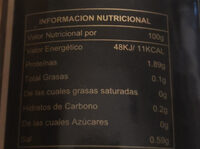 Champiñón Chino Tan - Informació nutricional - es
