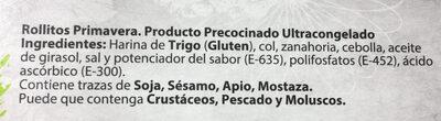 Rollitos primavera - Ingredientes - es