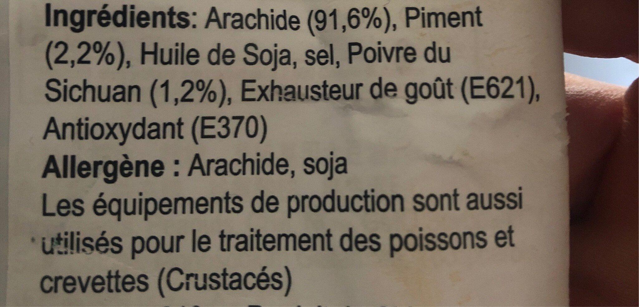 Spicy Peanuts - Ingredients - fr