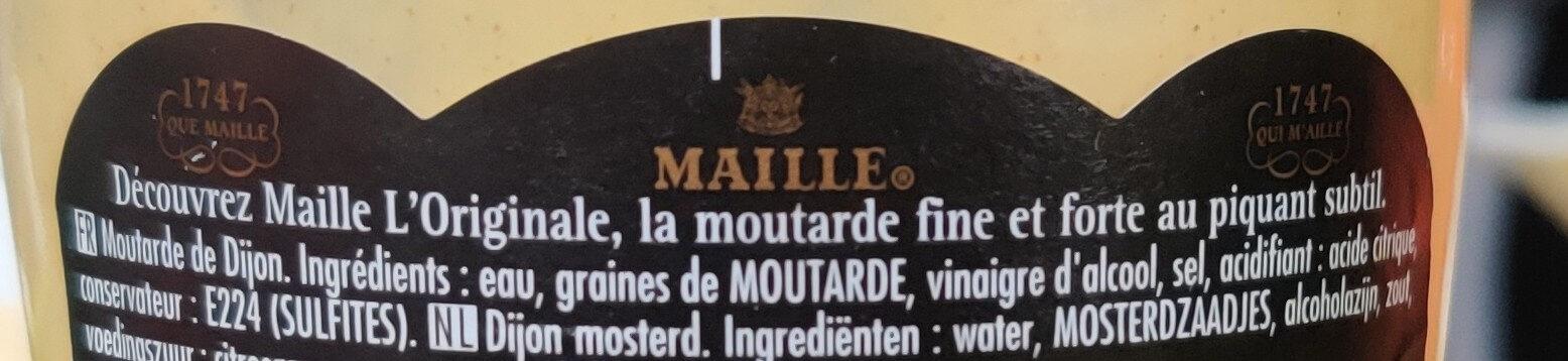 moutarde maille l'original - Ingrediënten - fr