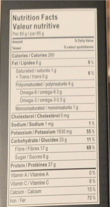 Organic back soybeen spagetti - Valori nutrizionali - en