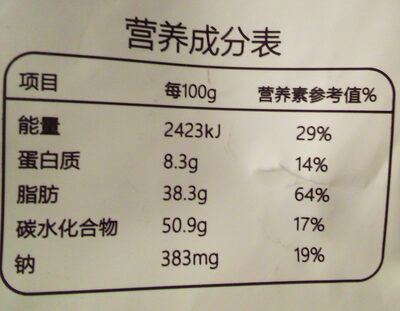 Jiang Hu Rusk Spicy - Informations nutritionnelles - fr