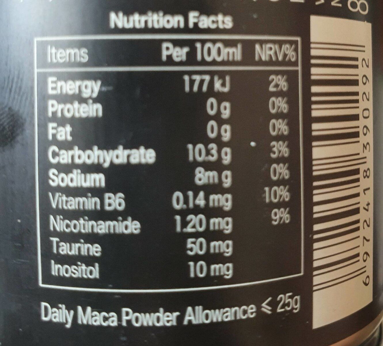 Vitamin Drink - Informations nutritionnelles - fr