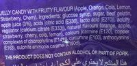 Jellies Lollies with fruit juice - Ingrediënten