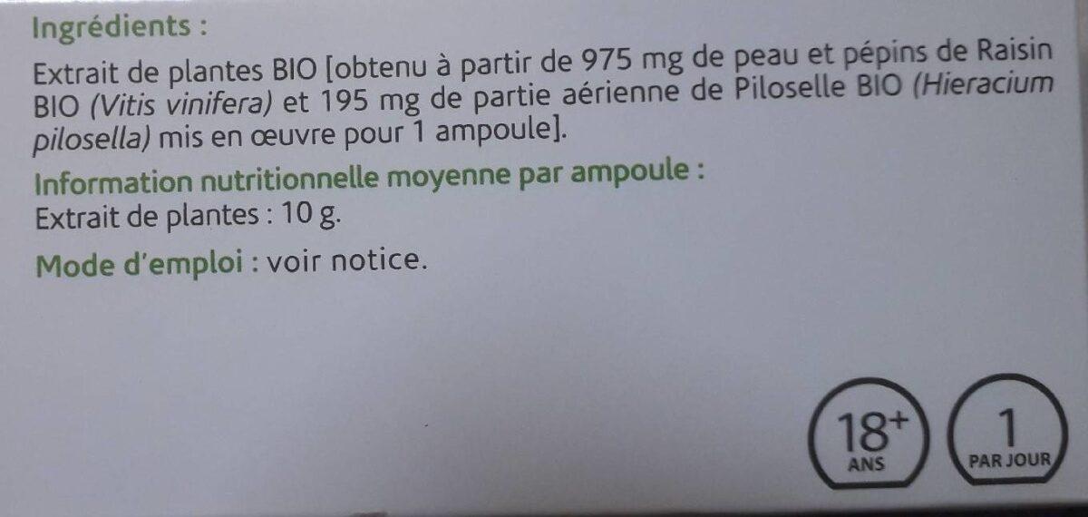 Complément alimentaires - Ingrédients - fr