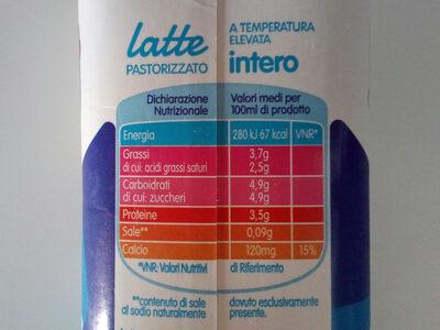 Più Dì latte intero - Nutrition facts