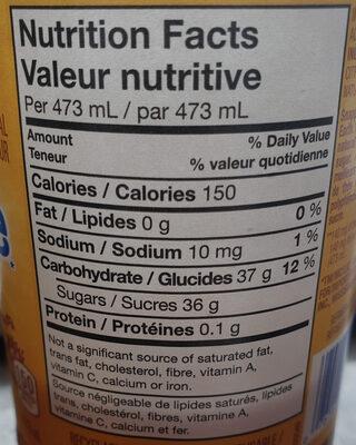 Snapple Lemon Tea - Informations nutritionnelles - en