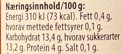 Stavland Tomatpure - Valori nutrizionali - en