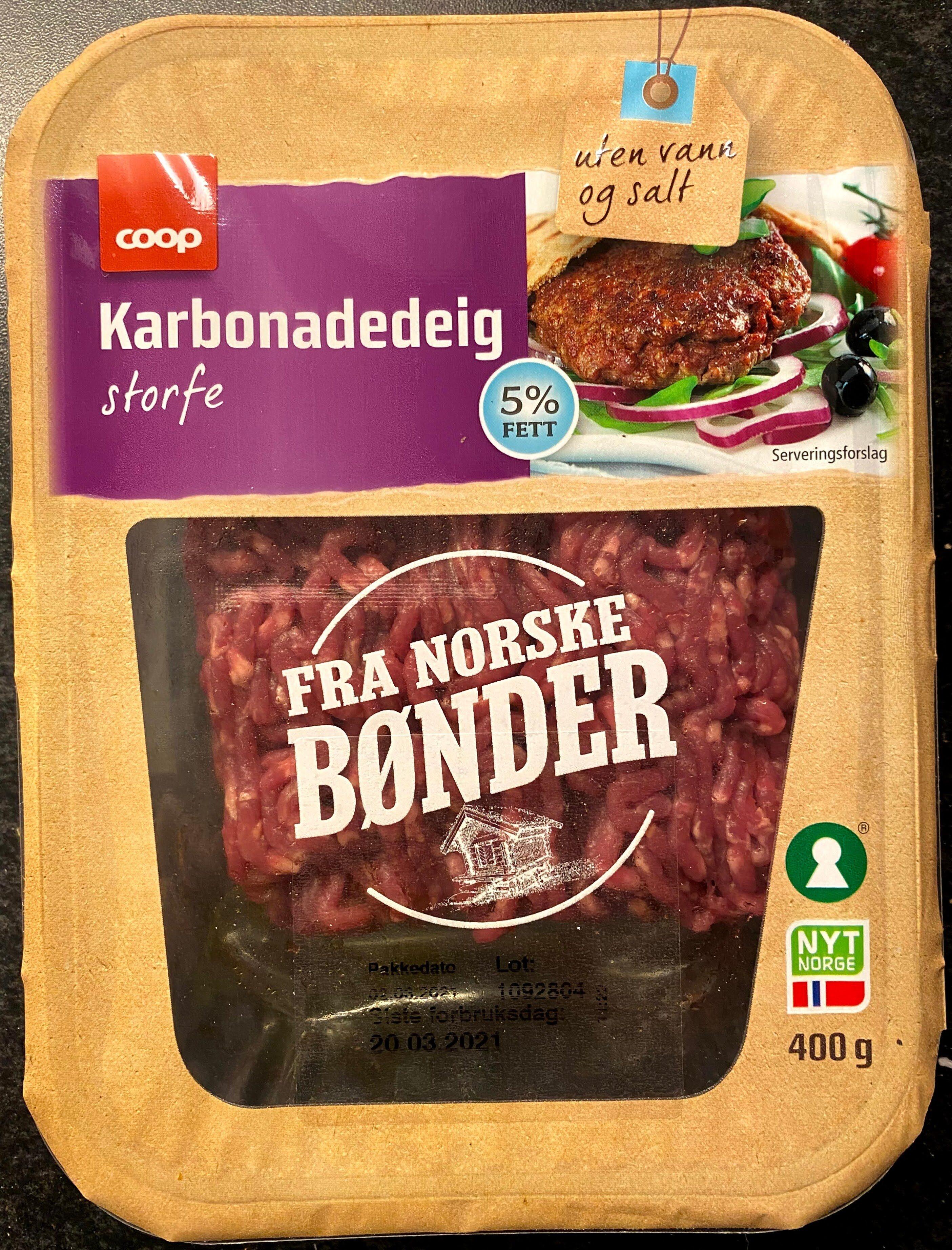 Karbonadedeig storfe - Produit - en