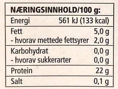 Karbonadedeig storfe - Informations nutritionnelles - en