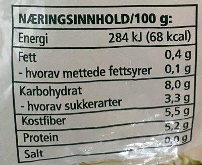 Coop Erter - Informations nutritionnelles - nb