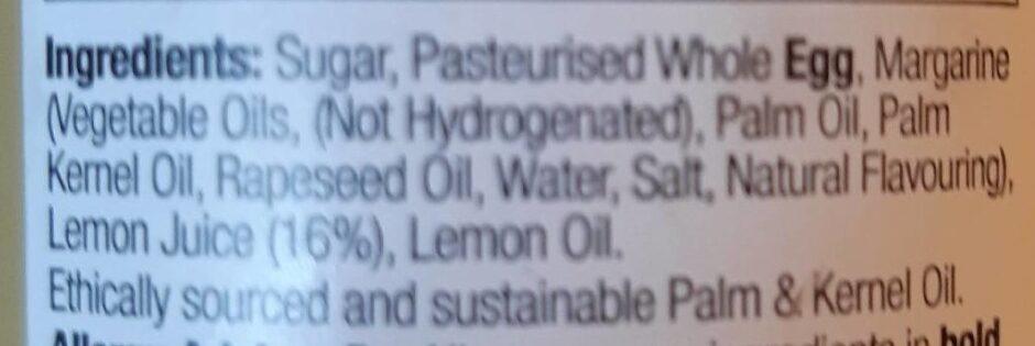 Lemon curd - Ingredients