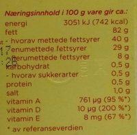 Original - Nutrition facts - nb
