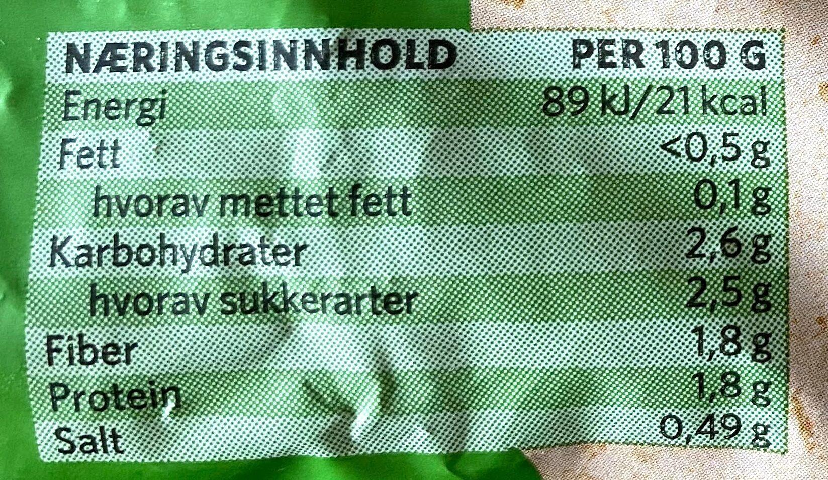 Veggie Sides Blomkålris med løk & persille - Informations nutritionnelles - nb