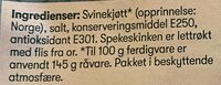 First Price Spekeskinke - Ingrédients - en