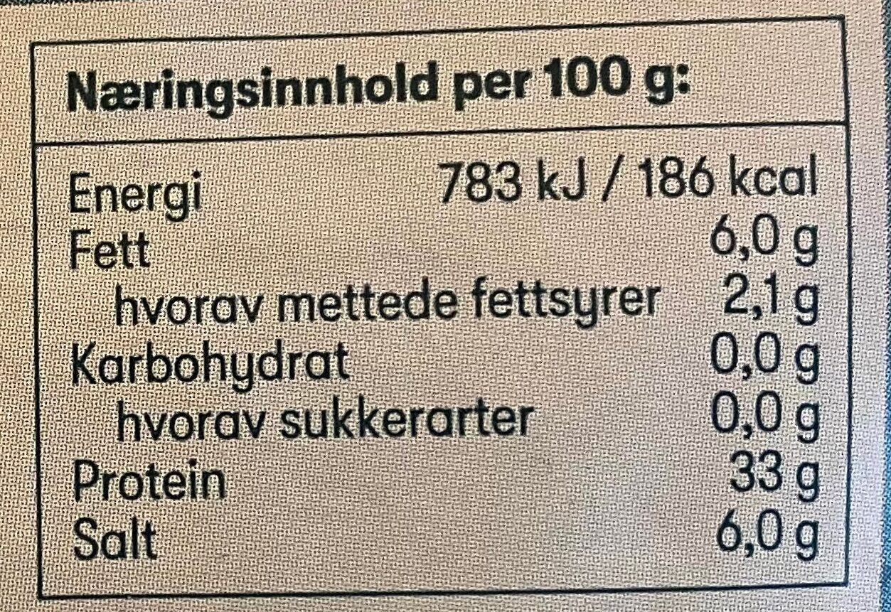 First Price Spekeskinke - Informations nutritionnelles - en