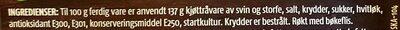 Gilde Salami fra Sogndal - Ingrédients - en