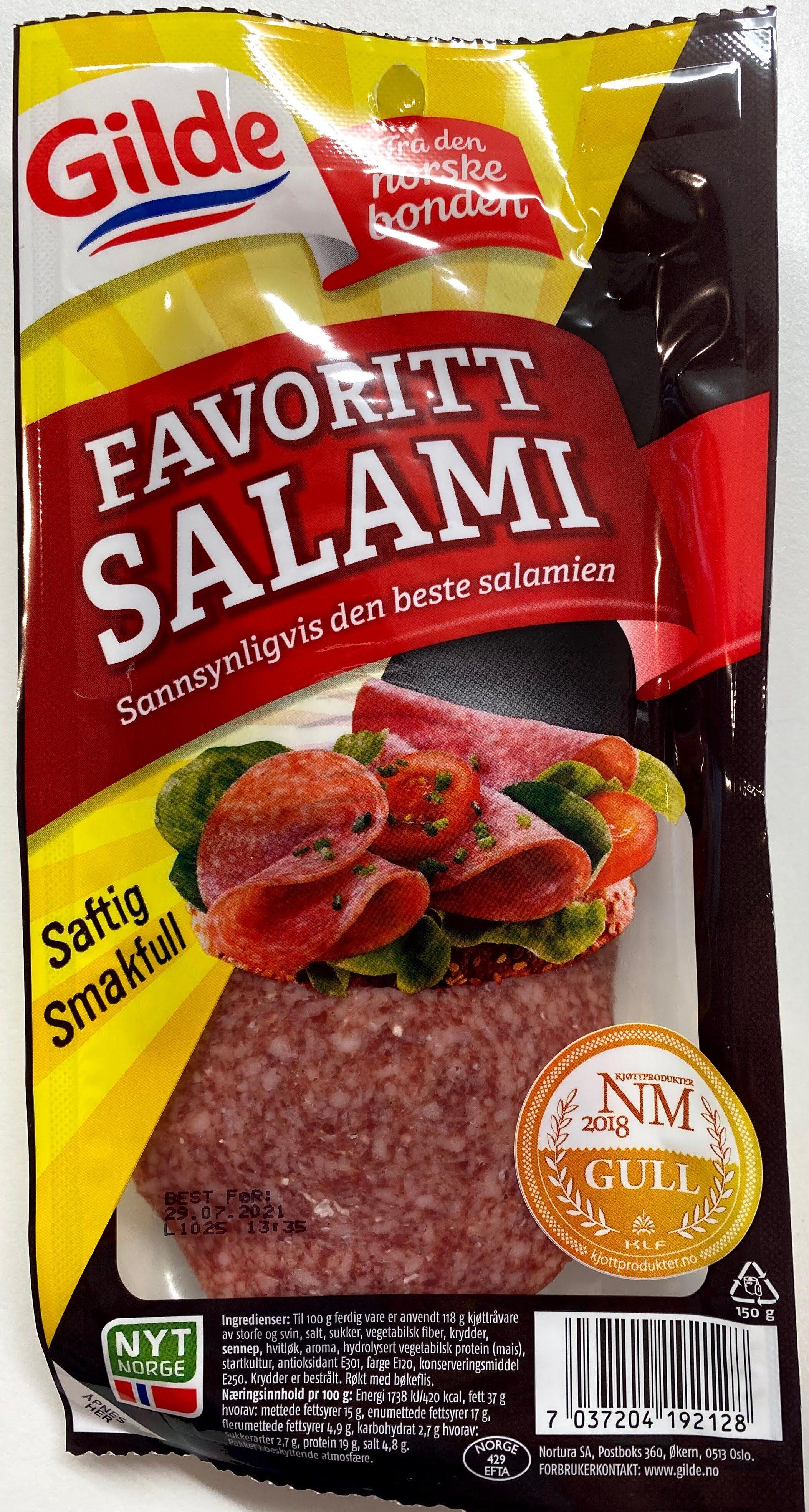 Gilde Favoritt Salami - Produit - en
