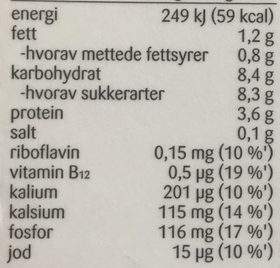 Litago original sjokolademelk - Nutrition facts