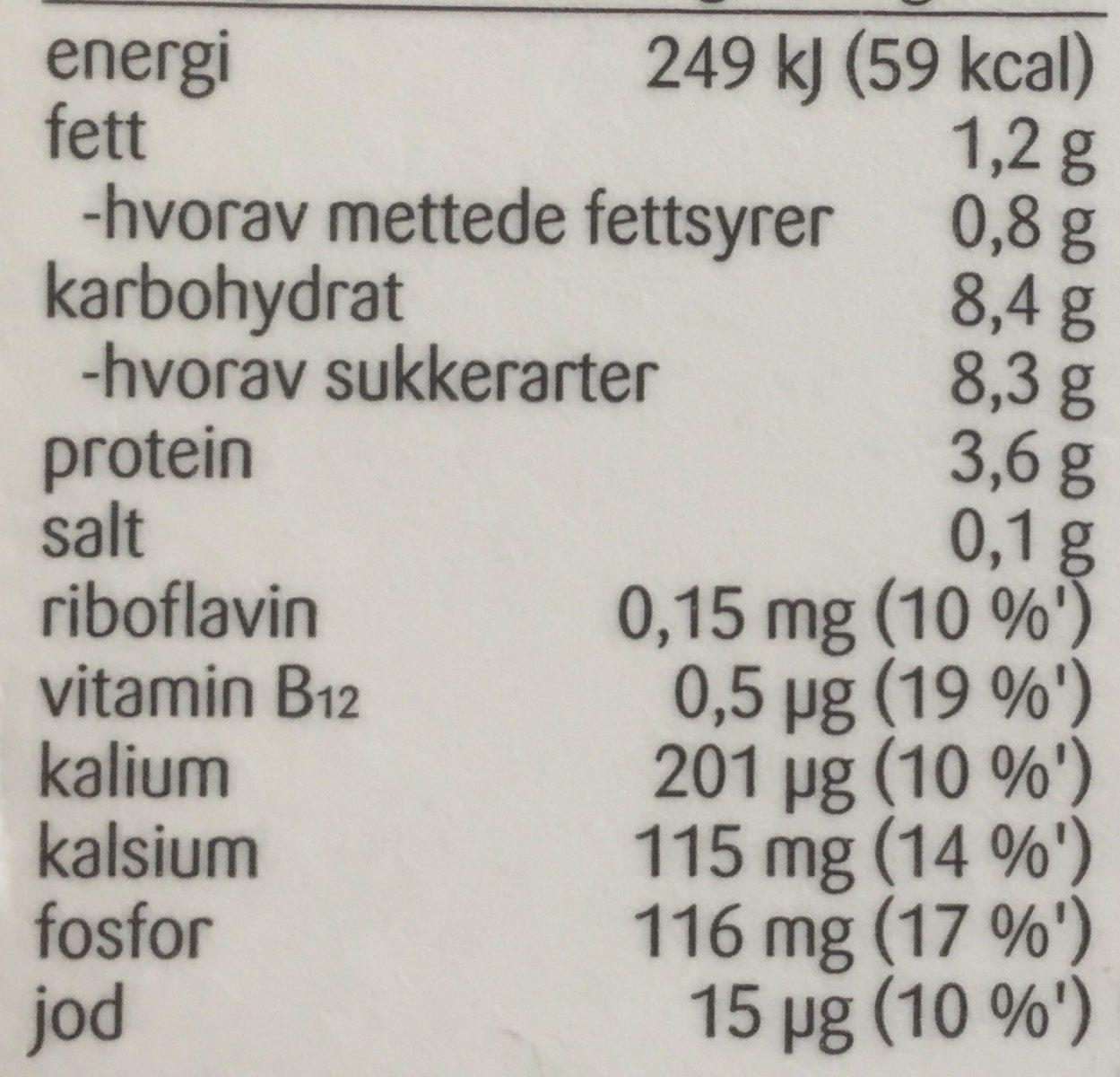 Litago original sjokolademelk - Nutrition facts