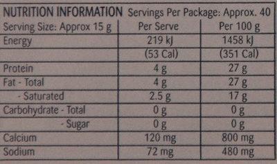 Original Firm Ripened Cheese - Voedingswaarden - en