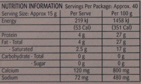 Original Firm Ripened Cheese - Nutrition facts