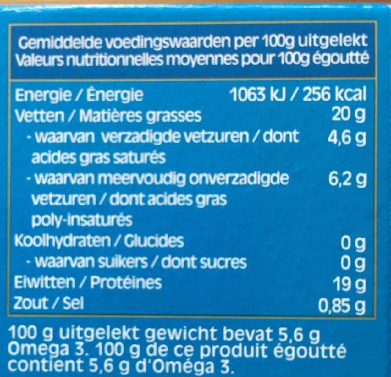 Filets de maquereaux au naturel - Informations nutritionnelles - fr