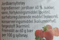 Nora hjemmelaget moste jordbær - Ingredients - en