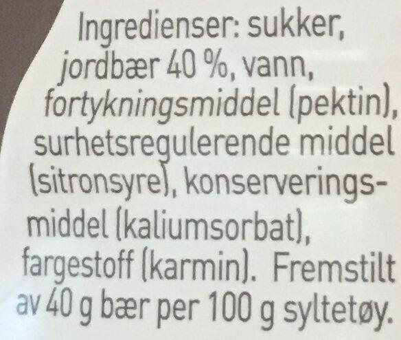 Moste jordbær - ingen biter - Ingrédients - nb