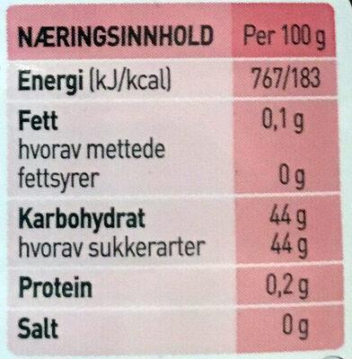 Moste jordbær - ingen biter - Informations nutritionnelles - nb