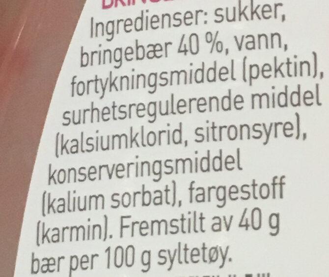 Moste bringebær - Ingrédients - nb