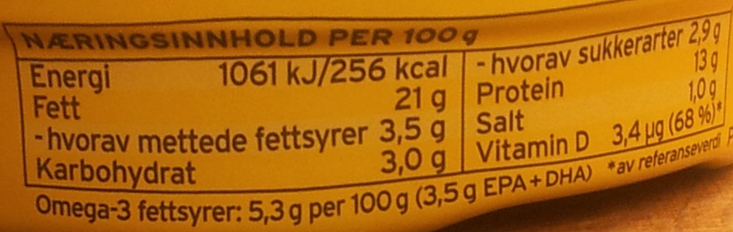 Stabbur-Makrell - Informations nutritionnelles