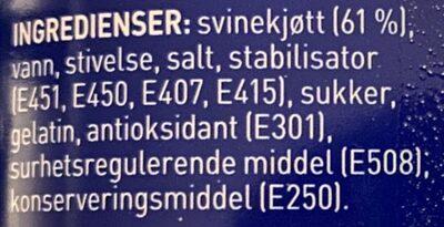 Stabburet Picnic - Ingrédients - en