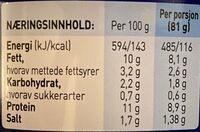 Stabburet Picnic - Informations nutritionnelles - en